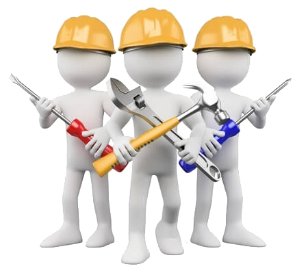 cartoon maintenance workers
